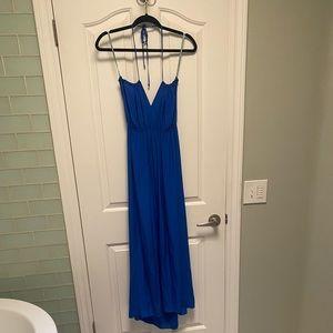 Geren Ford 100% Blue Silk Dress